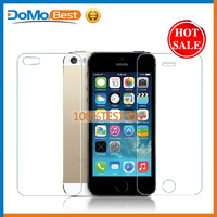 For cell phone 9h high clear tempered glass screen protector for iphone 5s