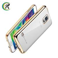 Clear soft for samsung galaxy s5 mini bumper case for Samsung plating tpu case cases cover shell