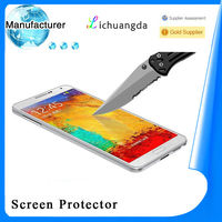 Newest premium 2.5D tempered glass screen protector for samsung galaxy note3 n9000 mobile phone accessory paypal accepted