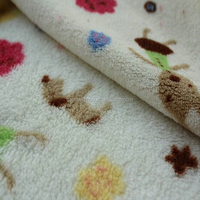 printed coral fleece fabric for car seat upholstery 100% polyester