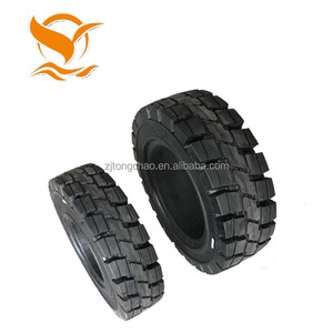 7.50-20 top quality 14 solid airless rubber tires for sale 200x50