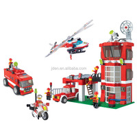WANGE Kid Popular Intelligent Fire Fighting building blocks toys