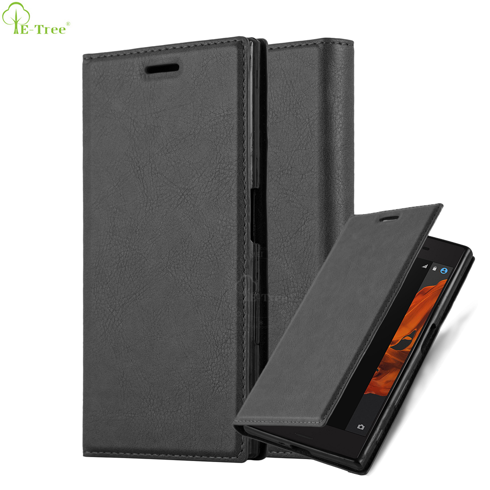 Invisible Magnet Book Folio Standing Flip Leather Phone Case For Sony Xperia XZ