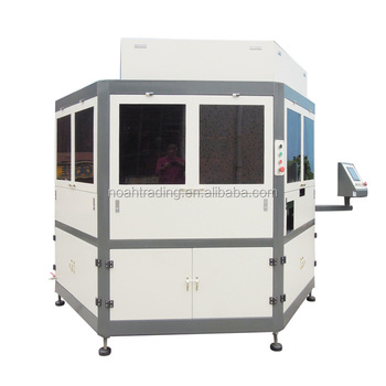 multi-color glass perfume bottle printing machine, cheap used automatic screen printing machine
