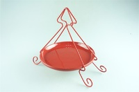 Ceramic cake stand red color christmas tree metal stand for decoration serving plates