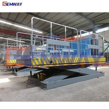 Hydraulic warehouse loading dock scissor platform lift