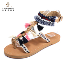Latest design fashion women ladies fancy sandal shoes