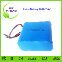 18650 7.4v 10ah li-ion battery protection circuit module installed