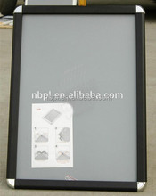 Snap open black aluminum display poster frame