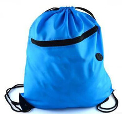 Utility Custom Solid Polyester Sport Drawstring Hiking Backpack Bag