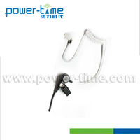 Listen only headset with mic medical acoustic tube for all kinds of speaker mic