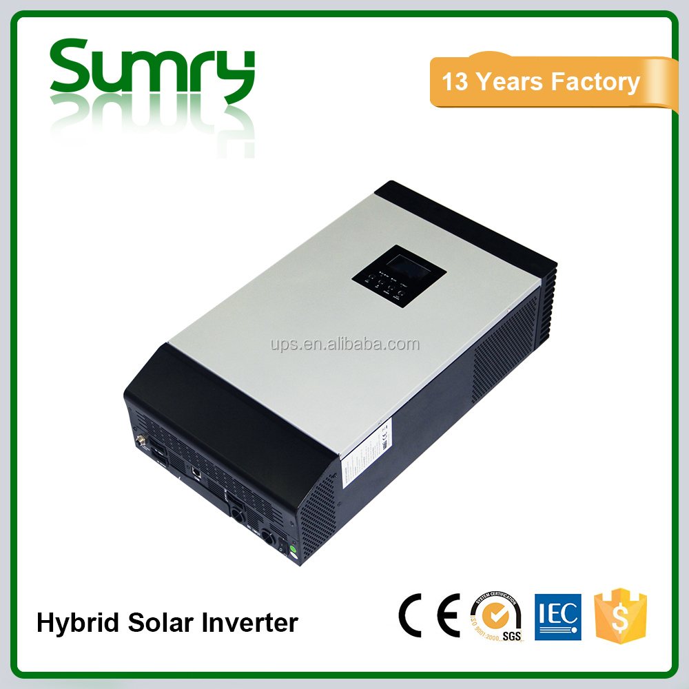 Best Selling Solar home system 1kva to 5kva pure sine wave smart hybrid solar pv inverter with inbuilt mppt controller
