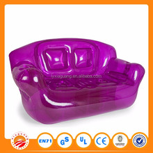 Big promotion PVC Flocked inflatable air sofa for sale inflatable sofa floating