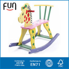 AT11426 cheap wooden decorative swing rocking horse for kids