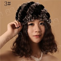 MBA Furs supplier fashional rex rabbit animal fur hat for women