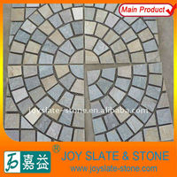 Beautiful random tiles paving stone pattern