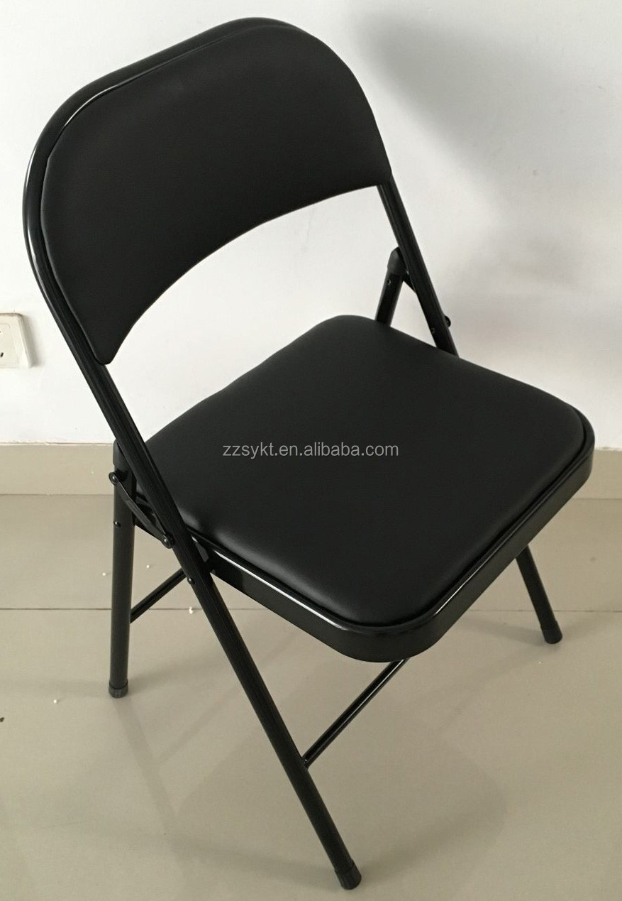 Used Living Room Furniture Chairs Soft Cushions Metal Folding Chair For Sale