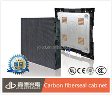 New products carbon fiber seal cabinet customized p8 outdoor led display