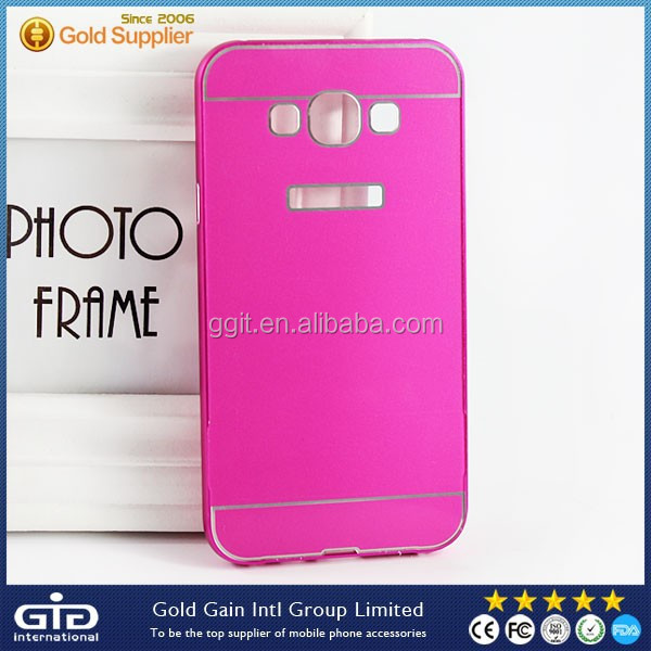 Metal Bumper PC Back Case For samsung for galaxy A7 A7000