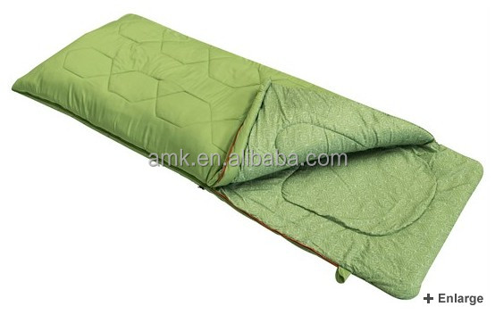 Shanghai Aimika sleeping bag manufacturer new launched fashion heated envelope outdoor camping sleeping bag