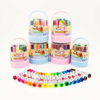 pvc bag packing 12 colors fibre -tip pen for kids