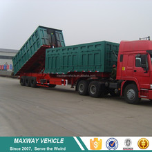 Large capacity coal transportation 100 ton dump truck with tipper trailer