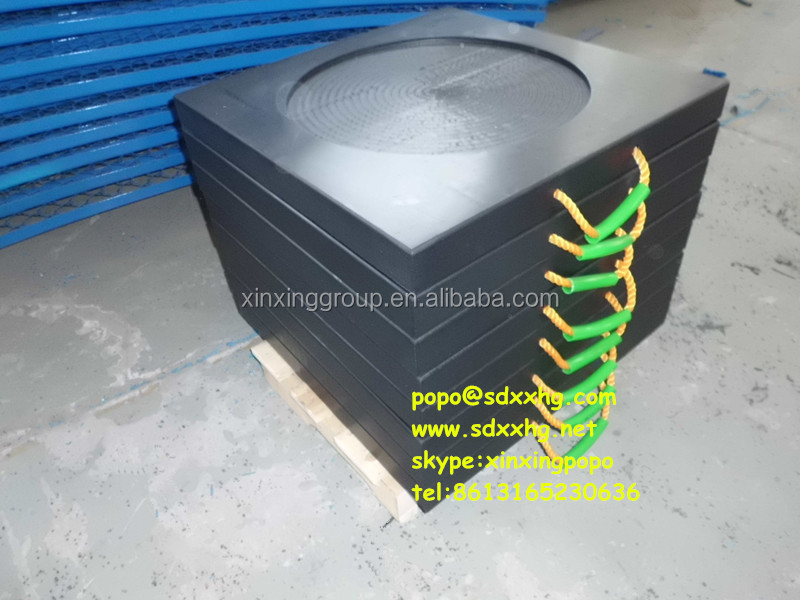 uhmwpe outrigger pad/ crane foot bearing support/anti-impact crane stabilizer pads