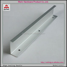 oxidised finish mat silver aluminium furniture kitchen hardware cabinet profile pull handle
