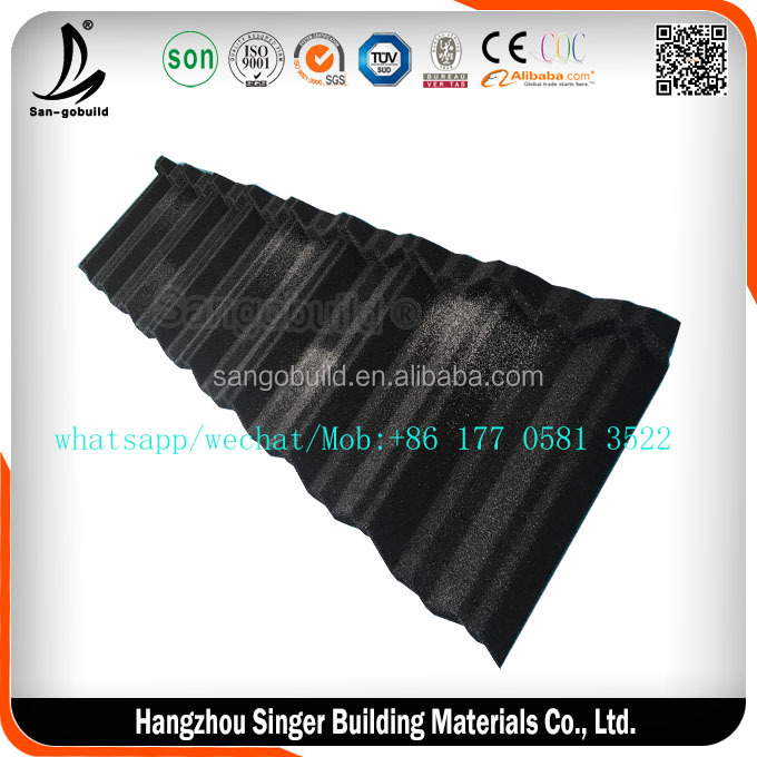 Shake Tile Stone Coated Metal Roof Designs, House Metal Roofing Sheet Stone Coated