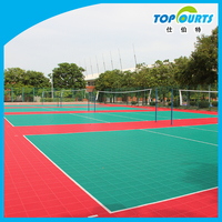 High quality plastic portable volleyball court sports flooring