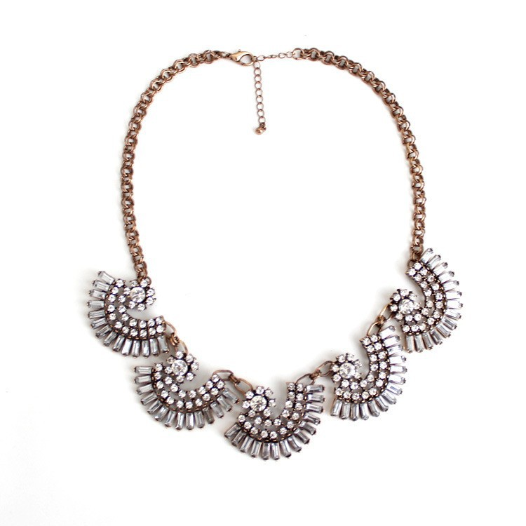 yiwu showme jewelry factory fashion jewelry wholesaler, wholesale crystal collar necklace