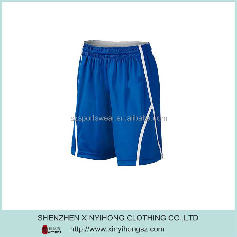 Dark Royal Blue White Splicing Man High Cut Running Shorts
