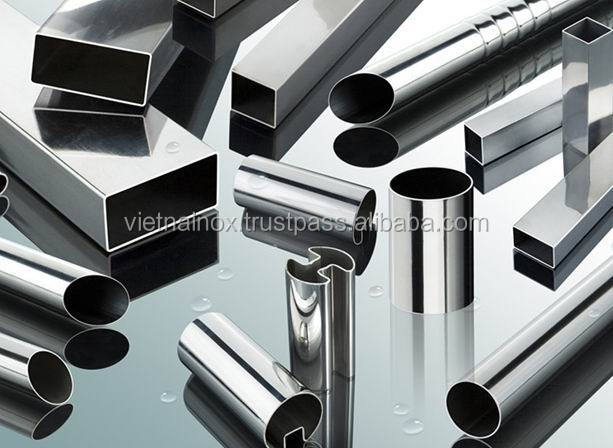 High luster, elegance, rigidity stainless steel square tube slotted