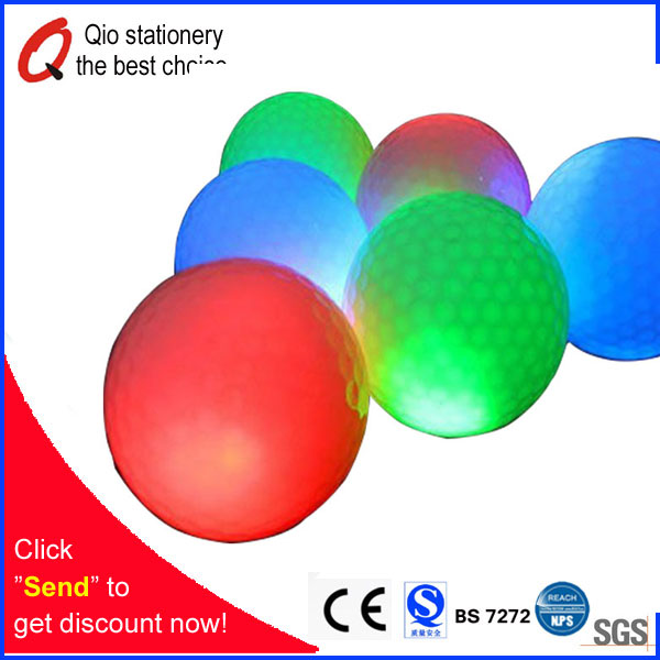High quality promotional LED golf ball Multi color