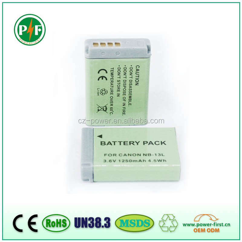 NB13L Replacement Lithium Battery NB-13L for Canon PowerShot GX7 Made in China