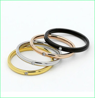 High quality stainless steel diamond ring,womens gold rings jewelry LC1014-1