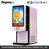 Sapoe SJ-71402S automatic 2 flavors refrigerated drink juice dispenser for restaurant