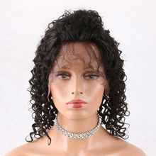 kinky twist full lace front wigs, 18'' human hair wig curly lace front synthetic wigs for black women