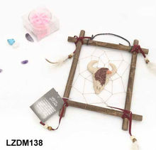 wood framed cow style dream catcher wall decor LZDM138