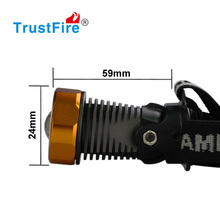 TrustFire newest design 3868-H6 high power zoom Led flashlight 400lm headlamp 8.4v bike light with 4*18650 Li-ion Battery