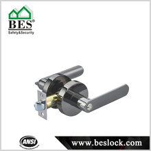 Heavy duty tubular leverset bathroom door lock