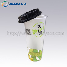 Alibaba Supplier Tea Beverage Cup IML Plastic Container for Frozen Food Packaging