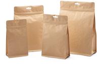 14 cm by 7 cm by 23 cm hang hole kraft paper zip food bag