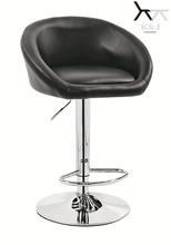 Low Price PU Leather Swivel Bar Stool TF042-A With Backrest