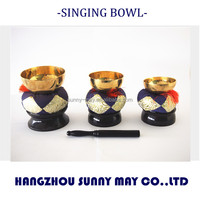 suzu gongs, bell set, brass singing bowl for buddhism ceremony, japanese traditional funeral crafts