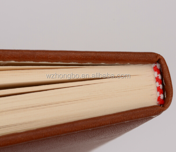 High quality nice thin leather notebook