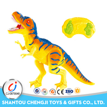 Infrared walking electric radio control toy dinosaur with light and music