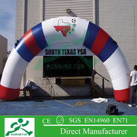 2015 outdoor event inflatable arch newly design entrance arch for racing