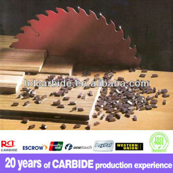 Standard or customized tungsten tipped carbide saw blade cutter