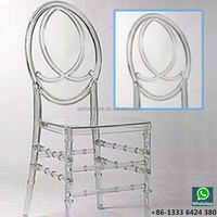 clear crystal phoenix chairs for event